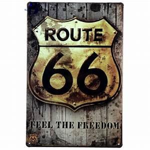 Vintage, Metal, Signs, Retro, Poster, Route, 66, Decor, Sticker, Decorative, Metal, Wall, Craft, Vintage