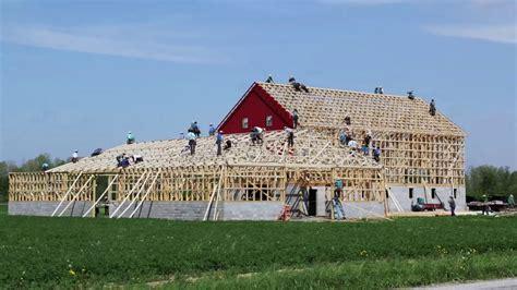 Amish Barn by Ohio Amish Barn Raising May 13th 2014 In 3 Minutes And