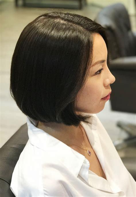 short hair cut  curl perm  wiz korean hair salon singapore