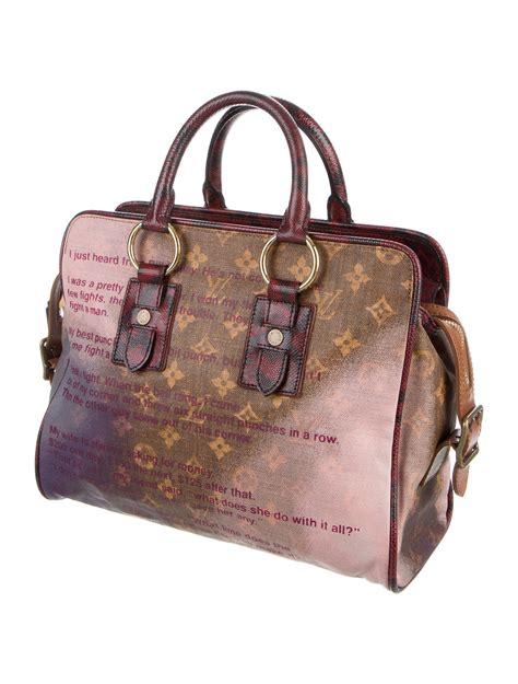 louis vuitton karung trimmed graduate jokes bag handbags