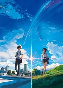 Anime, Anime, Girls, Landscape, Your, Name, Miyamizu, Mitsuha, Tachibana, Taki, Street, Grass