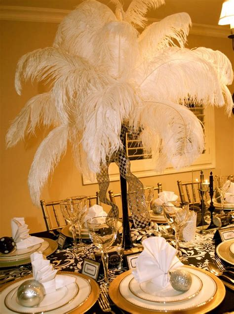 great gatsby prom decorations   feathers