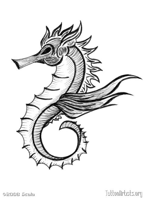 Seahorse tattoo - for my hubby, to match mine | Seahorse tattoo, Ocean tattoos, Tattoo artists