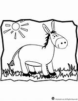 Donkey Coloring Pages Printable Animal Mule Template Cartoon Jr Balaam Library Sheet Clipart Getcoloringpages Craft Popular Classroom sketch template