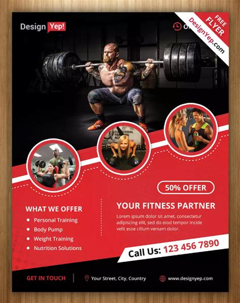 11 Powerpoint Brochure Templates Ginva 10 Free Bodybuilding Flyer Poster Templates Ginva