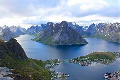 Lofoten Island June Norway Fjords