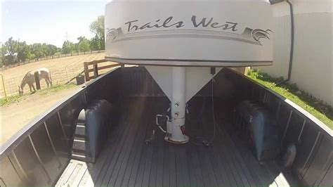 time pulling  gooseneck trailer youtube