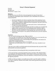 classical argument paper topics