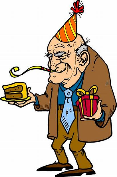 Clipart Funny Older Birthday Clip Partying Cake