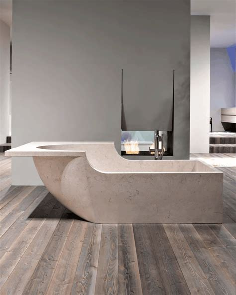 Freistehende Badewanne Die Moderne Badeinrichtungfreistehende Stein Badewanne by Bezaubernde Badewannen Aus Naturstein