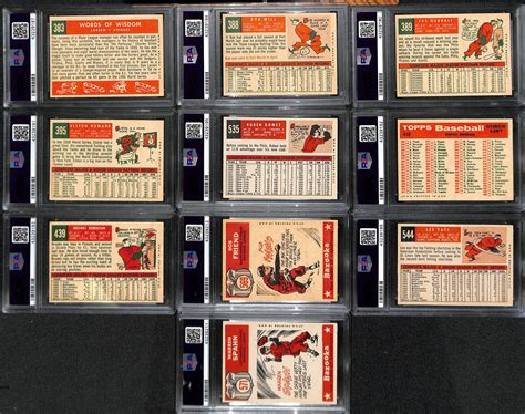 The primary reason for this can be attributed to vintage set builders, as they prefer a singular slab in order to create continuity. Lot Detail - 1959 High-Grade Baseball Card Near Complete Set - Missing 5 Cards - w. Mantle PSA 4