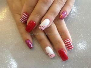 Eye Candy Nails & Training - Acrylic nails with red and ...