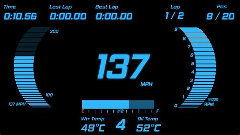 Digital Dashboard Cars by Digital Dash Blue For Project Cars Dashmaker 1000s Of