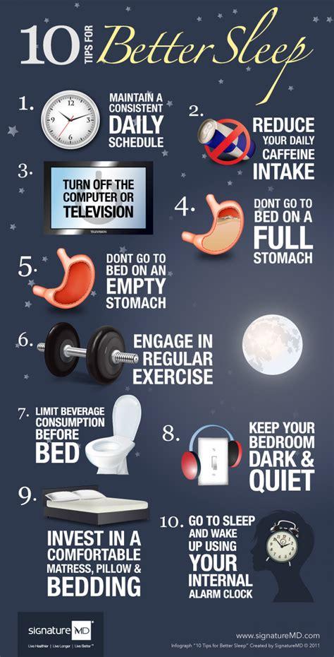10 Tips For Better Sleep Visually