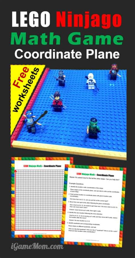 lego  math game  coordinate plane worksheets