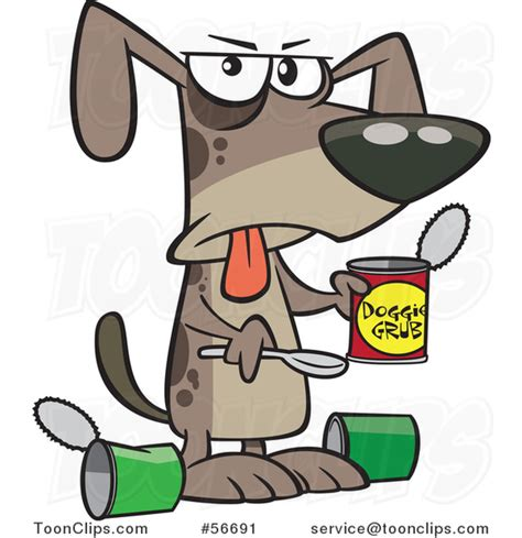 cartoon dog eating  gross   wet food   ron