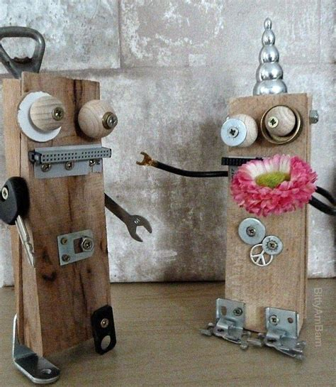 bittyambam roboter diy creadienstag upcycling