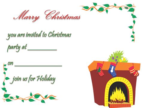 free printable christmas invitations template invitation template free printable