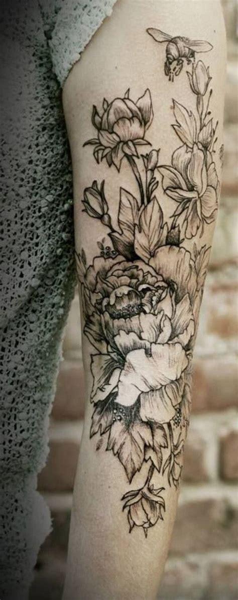 flower arm tattoos  pinterest leo tattoo designs