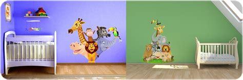 chambre bebe savane ordinaire dessin chambre bebe garcon 6 stickers animaux