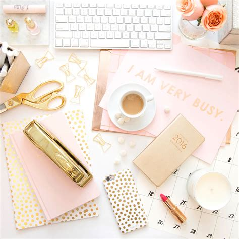 Girly Office Desk Accessories by 25 Desk Accessories That Will Make Your Workspace Chic Af