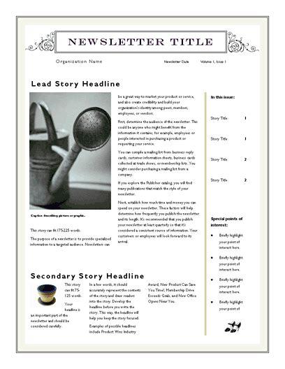 powerpoint newsletter template httpwebdesigncom