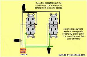 Parallel Wiring Two Outlets In One Box