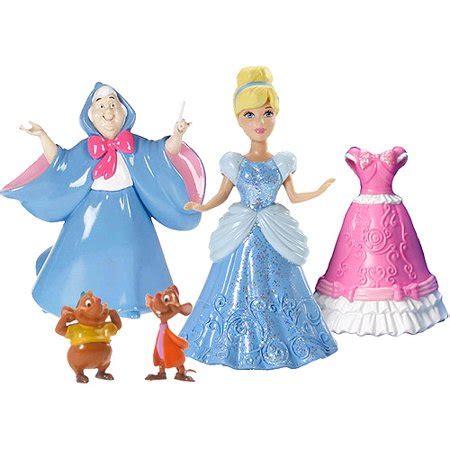 disney cinderella magiclip fairytale 4 doll play set walmart