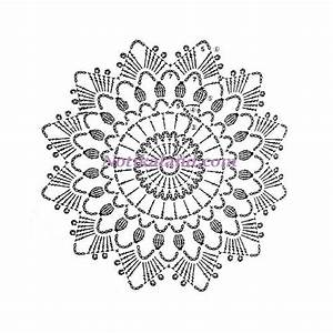 Crochet  Doily  Diagram Pattern  1