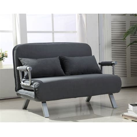 Loveseat Futon Mattress by Sofa Bed Convertible Loveseat Chair Suede Pillow