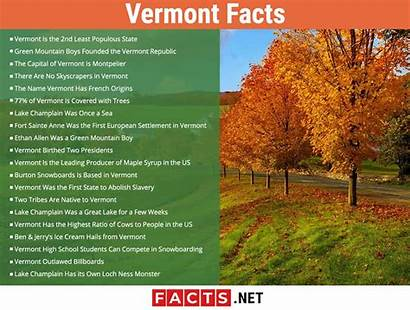 Vermont Facts State Infographics States
