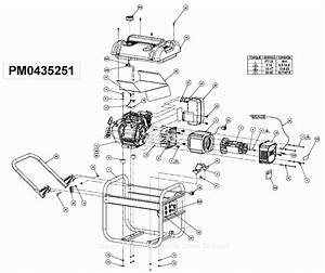 Powermate Formerly Coleman Pm0435251 Parts Diagram For Generator Parts