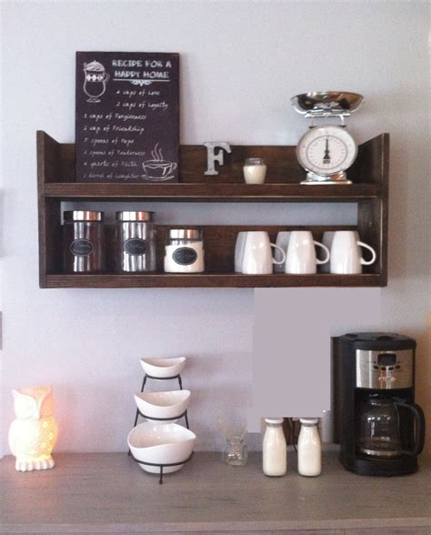 shelf of coffee rustic kitchen shelf coffee shelf coffee bar shelf