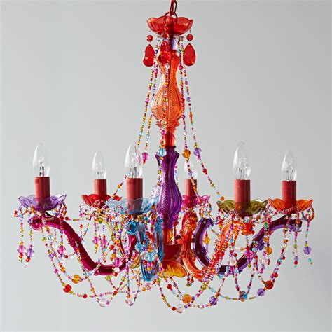 multi coloured chandelier eclectic chandeliers