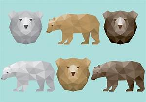 Polygonal Bear Vectors - Download Free Vector Art, Stock ...