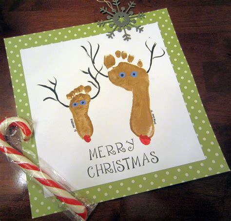 Frugal Christmas Craft Idea Footprint Reindeer