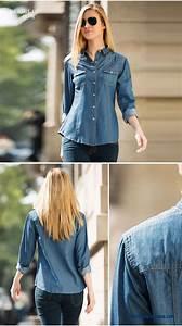 American Women S Clothing Size Chart Cheap European And American Women Long Sleeved Denim Shirt