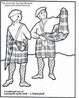 Coloring Scottish Kilt Scotland Plaid Amy Wearing Things sketch template