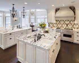White Kitchen Cabinets With White Granite Countertops by Granite Countertop With White Cabinets Home Design Ideas