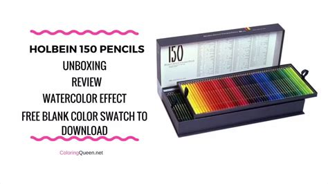 holbein  pc coloring pencils unboxing review