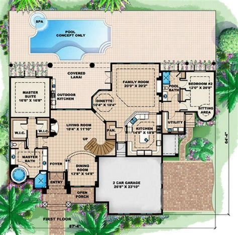 5 Bedroom 5 Bath Beach House Plan #ALP 08B1 Allplans