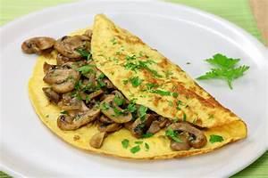Vegetarian Mushroom and Leek Omelette Recipe