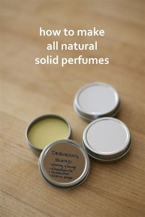 How To Make Solid Perfumes Step By Step Guide With Photos