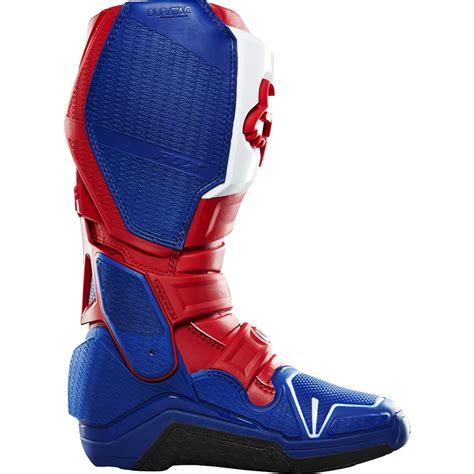 blue dirt bike boots fox racing new mx 2016 le glen helen instinct blue red