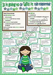 A Short Grammar Guide On The Use Of Be Going To  Will And Some Sentences To Practise  B U0026w Version