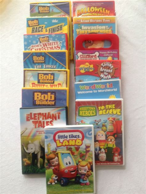 dvd lot   bob  builder wiggles pbs disney elephant