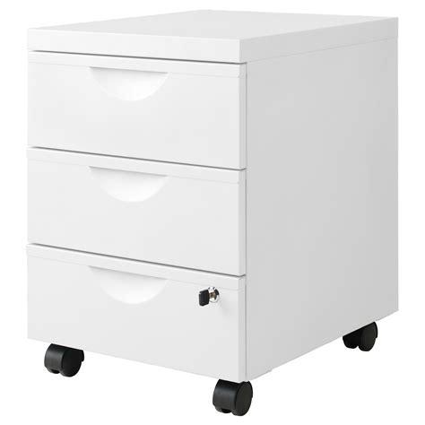 caisson de bureau sur roulettes erik caisson 3 tiroirs sur roulettes blanc 41x57 cm ikea