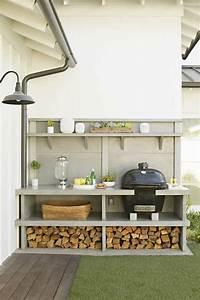 barbecue moderne et idees de cuisine exterieure pour l39ete With amenagement de cuisine moderne