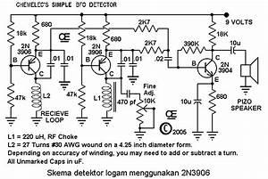 Skema Detektor Logam Menggunakan 2n3906
