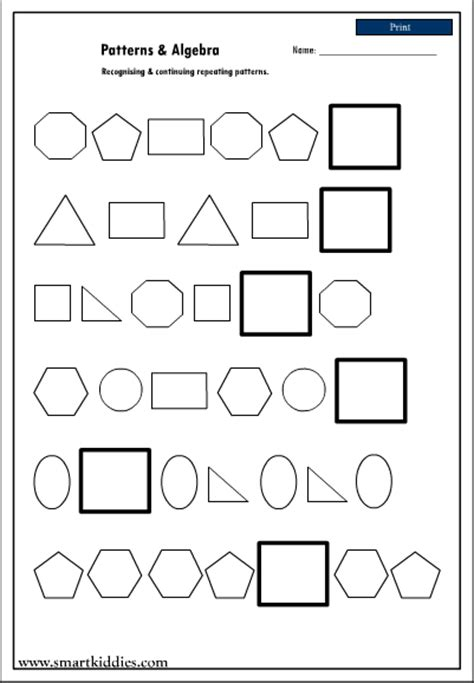 recognizing and continuing repeating patterns mathematics